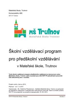 Roční plán na školní rok 2003 – 2004