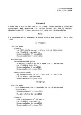 USNESENI Fj 88745/2015/KSBR