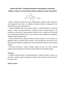 Syntéza derivátů 1,2-dihydrochinazolin-2