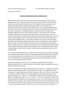 Podrobný sylabus s jednotlivými tématy a navazující literaturou