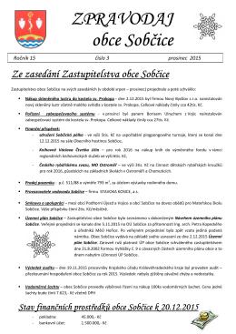 Zpravodaj č. 3/2015