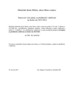 Mateřská škola Měnín, okres Brno