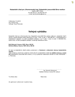 Katastrální úřad pro Jihomoravský kraj, Katastrální pracoviště Brno