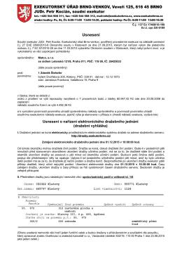 Exekutorský úřad Brno