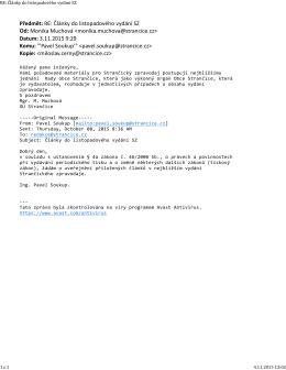 tento mail od Mgr. Muchové