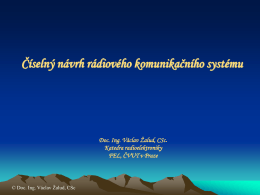 Návrh moderního radiokomunikačního digitálního systému