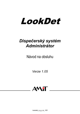 LookDet - Administrátor - návod na obsluhu