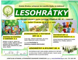 LESOHRÁTKY A BYLINKY 30. 4. - Strom života Lesní klub Letohrad
