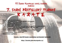 podrobný program 7. jarního přátelského turnaje