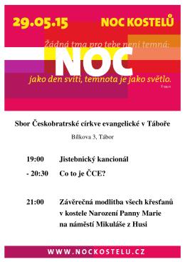 Sbor Českobratrské církve evangelické v Táboře 19:00