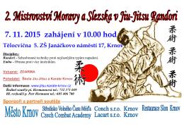 Plakát na MČR Jiu-Jitsu