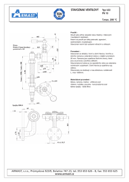 stavoznak ventilový typ U22
