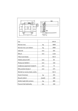 Technický list - parametry OR 35