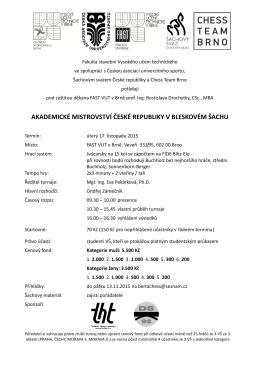 akademické mistrovství české republiky v bleskovém šachu