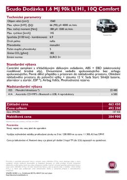 Scudo Dodávka 1.6 MJ 90k L1H1, 10Q Comfort