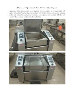 Příloha č. 1 k veřejné zakázce: Dodávka elektrické multifunkční