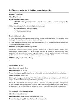 6.5 Rámcová směrnice č. 5 péče o nelesní stanoviště