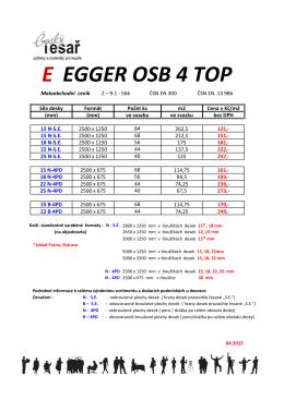 ceník Egger OSB 4