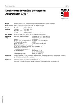 Desky extrudovaného polystyrenu Austrotherm XPS P