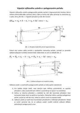 Výpočet výškového uzávěru u uzavřeného polygonového pořadu