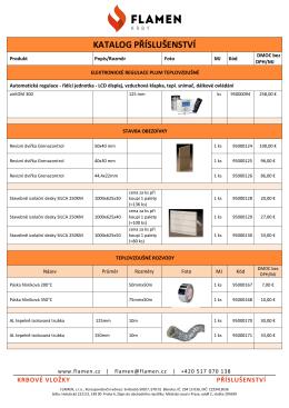 Ceník - Katalog příslušenství FLAMEN