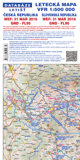 Obálka mapa VFR 1:500 000 - PDF