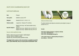 28/07/2015 CALDERASPAS GOLF CUP Golf Club Poděbrady