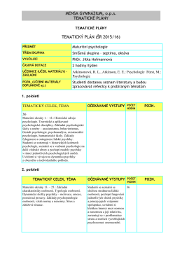 ŠR 2015/16 - Mensa gymnázium
