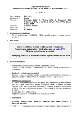 č. 2/2015 Výzva k instalaci měřičů ve zbývajících jednotkách