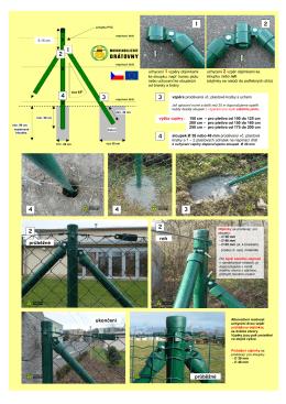 Stavba plotu - sloupky a vzpěry