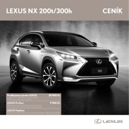 LEXUS NX 200t/300h cENík