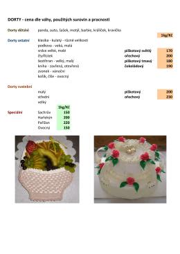 dorty - ceník zde