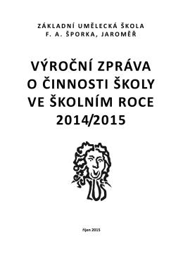 výroční zpráva - Základní umělecká škola FA Šporka, Jaroměř