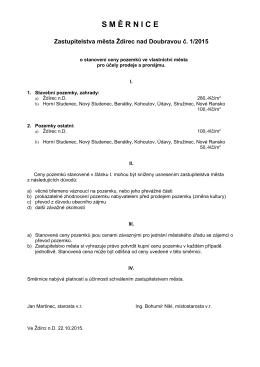 2015-10-22 Směrnice o ceně pozemků