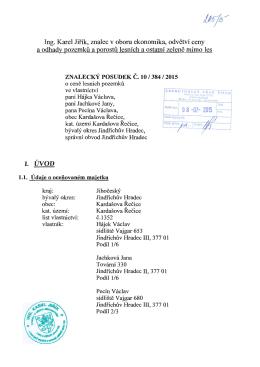 674188-posudek 205-15 - Exekutorský úřad Písek / JUDr