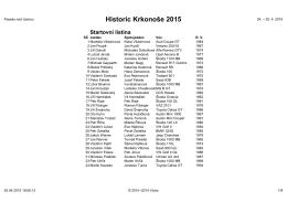 Historic Krkonoše 2015