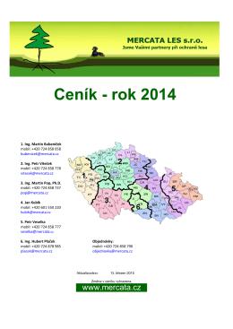 Ceník - rok 2014 - MERCATA LES s.r.o.