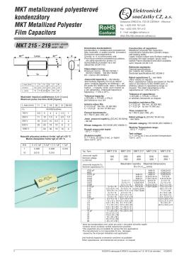 MKT 215-219 - Elektronické součástky Ostrava