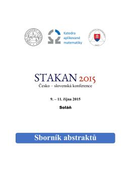 Sborník abstraktů STAKAN 2015
