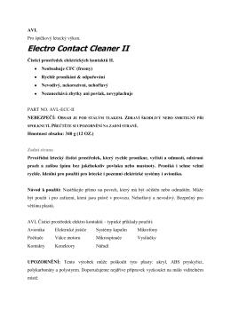 AVL-ECC-II manuál CZ - for