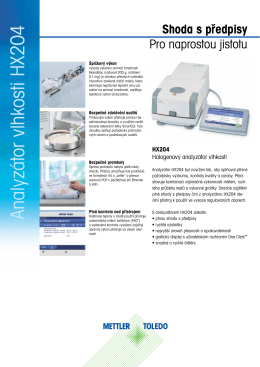 Analyzátor vlhkosti HX204 Shoda s předpisy
