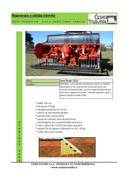 Regenerace a údržba trávníků - Verti Drain 7215