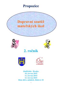 propozice dopravní soutěže mateřských škol