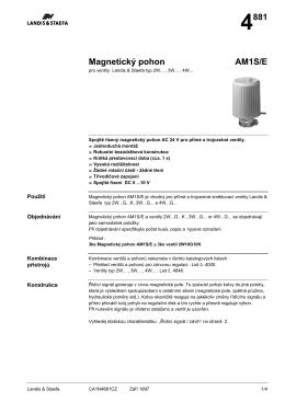 4881 Magnetickę pohon AM1S/E