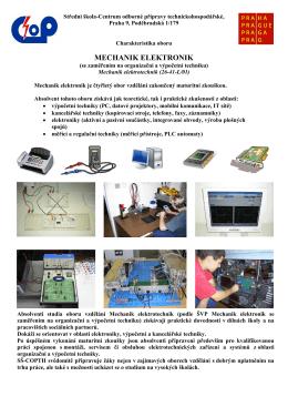 Mechanik elektrotechnik - Centrum odborné přípravy