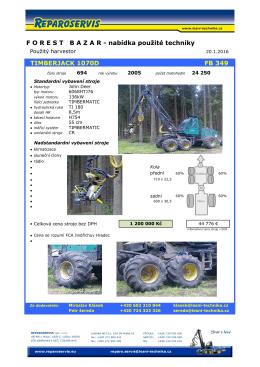 nabídka použité techniky TIMBERJACK 1070D FB 349