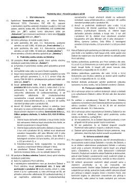 Podmínky akce – Finanční podpora od SD I. Účel