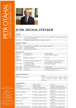 JUDR. MICHAL STECKER