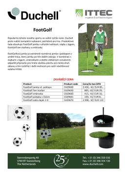 Nová zvýhodněná nabídka Footgolfového vybavení za