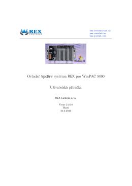 Ovladač WpcDrv systému REX pro WinPAC 8000